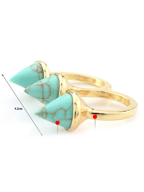 lady Cone Triple Finger Ring -   Mobile