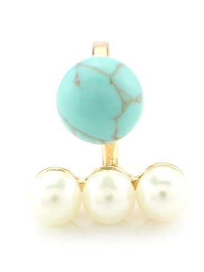 Faux Pearl Ball Ring - TURQUOISE  Mobile