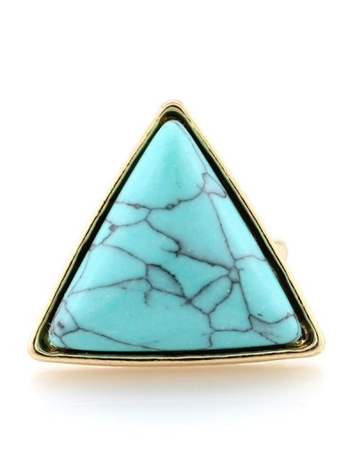 Triangle Faux Turquoise Ring - TURQUOISE  Mobile