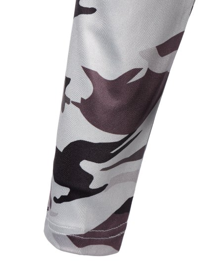 Cut Out Camouflage T-Shirt - WHITE S Mobile