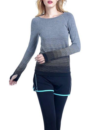 Ombre Yoga Gym T-Shirt - BLACK L Mobile