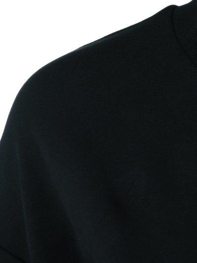 Navidad Pattern Fleece Sweatshirt - BLACK M Mobile