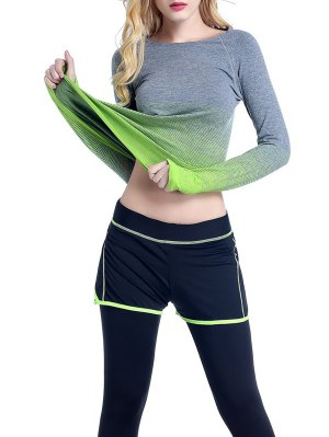 Ombre Yoga Gym T-Shirt - Green
