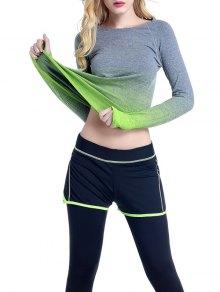 Ombre Yoga Gimnasio De La Camiseta - Verde