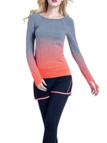 Ombre Yoga Gym T-Shirt - Orange