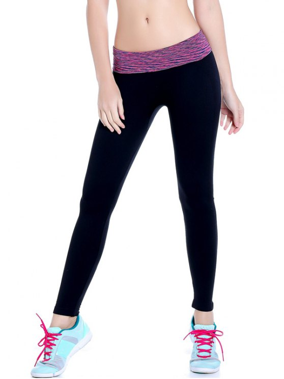 women Stretchy Space Dyed Yoga Leggings - PURPLE M