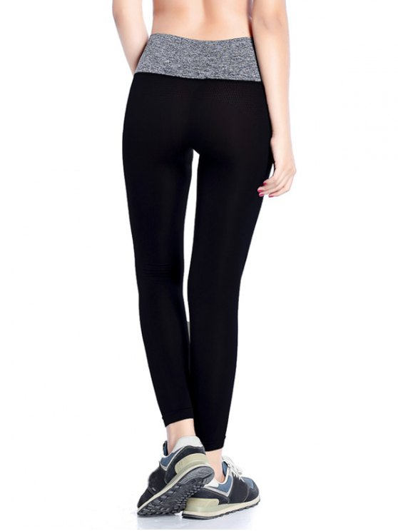 Stretchy Yoga Leggings - GRAY M Mobile