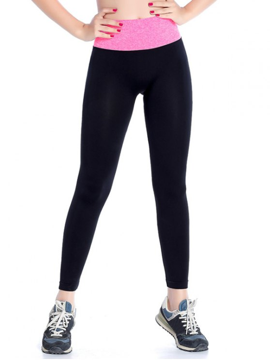 Stretchy Yoga Leggings - ROSE RED L Mobile