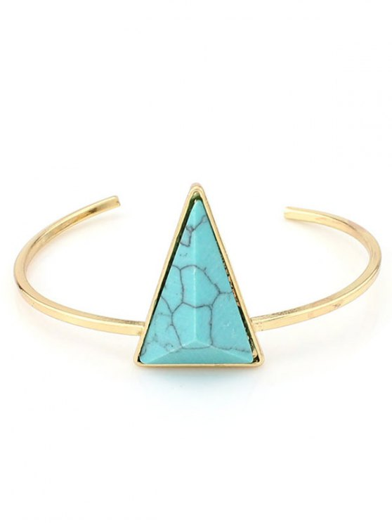 Faux Turquoise Triangle Cuff Bracelet - GREEN  Mobile
