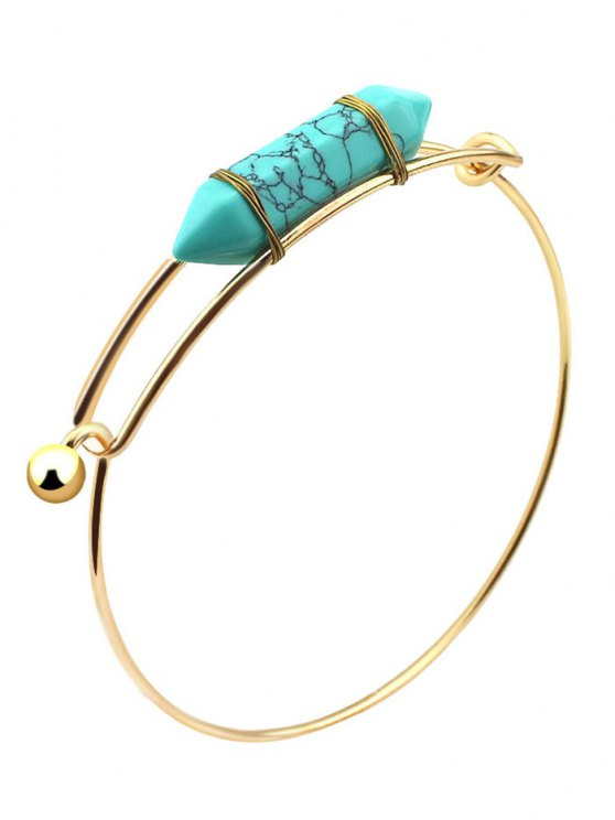 Bracelet vintage embellie a pierre précieuse naturel - Vert