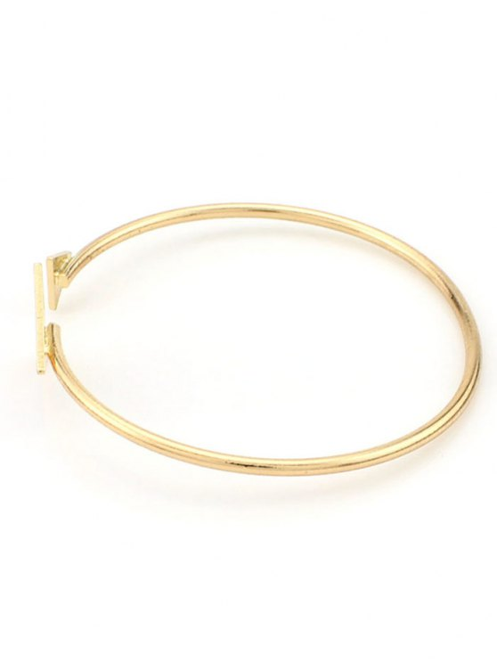 Vintage Triangle Alloy Cuff Bracelet - GOLDEN  Mobile