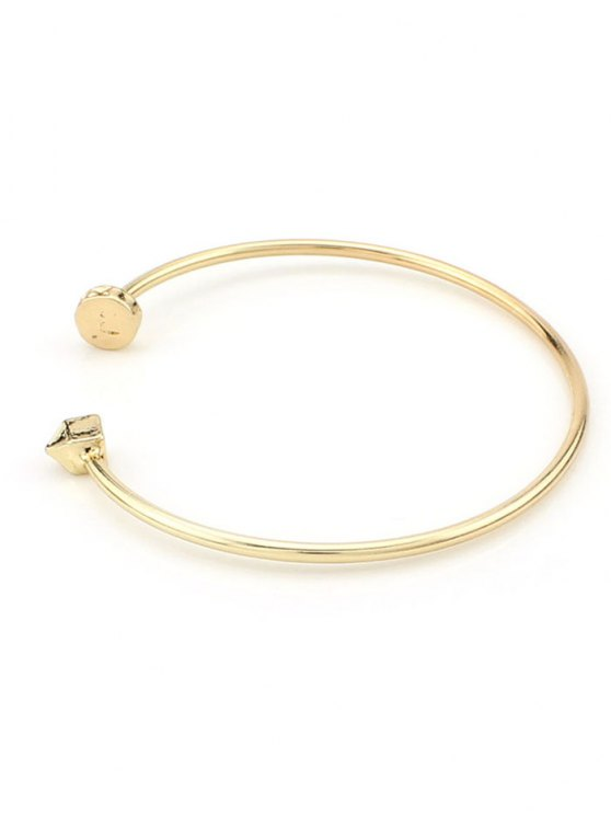 Triangle Alloy Cuff Bracelet - GOLDEN  Mobile