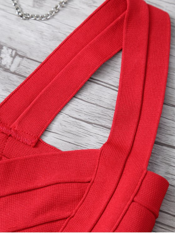 Back Zipper Tank Top - RED ONE SIZE Mobile