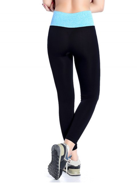 affordable Stretchy Yoga Leggings - AZURE S Mobile