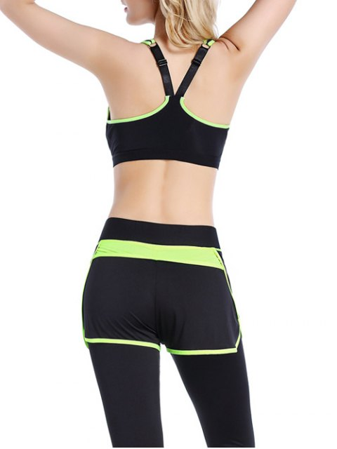 affordable Push Up Front Zipper Sporty Bra - BLACK M Mobile