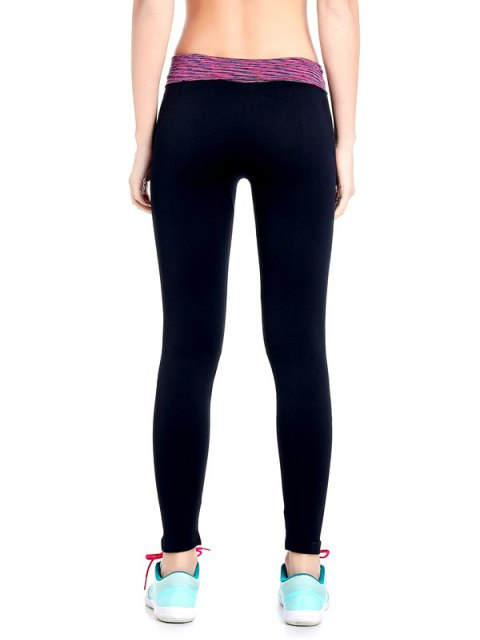 women Stretchy Space Dyed Yoga Leggings - PURPLE M Mobile