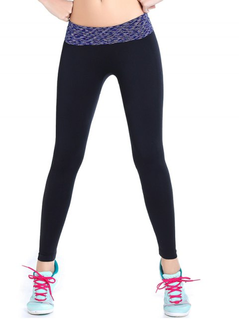 ladies Stretchy Space Dyed Yoga Leggings -   Mobile