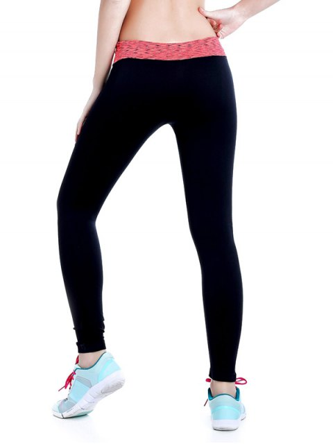 outfit Stretchy Space Dyed Yoga Leggings - JACINTH L Mobile