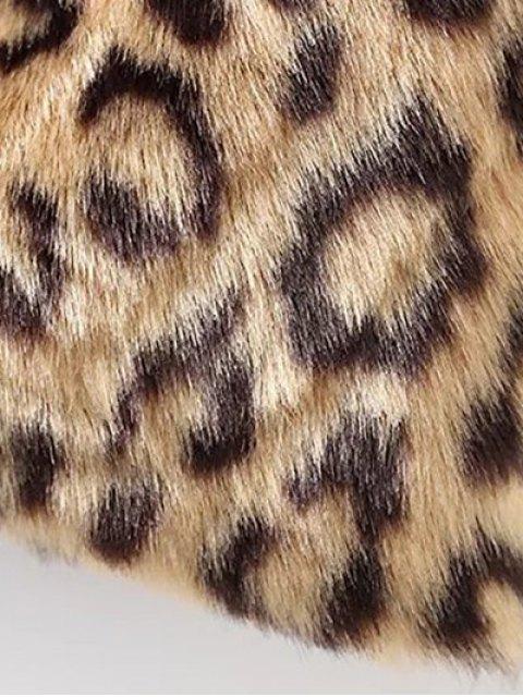 latest Leopard Faux Fur Coat - LEOPARD L Mobile