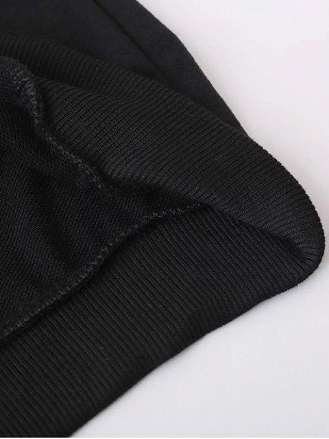 new Striped Classic Hoodie - BLACK L Mobile