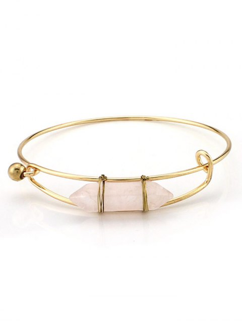 lady Vintage Natural Stone Bullet Shape Bracelet - WHITE  Mobile