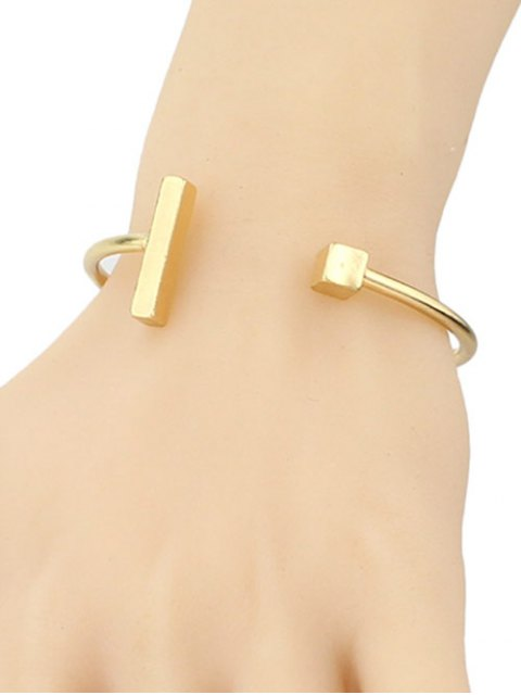 hot Vintage Alloy Adorn Geometric Cuff Bracelet - GOLDEN  Mobile