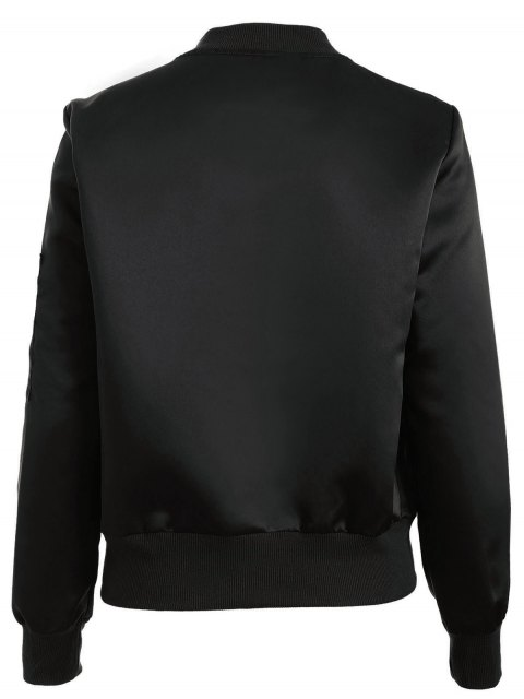 latest Zip-Up Bomber Jacket - BLACK S Mobile