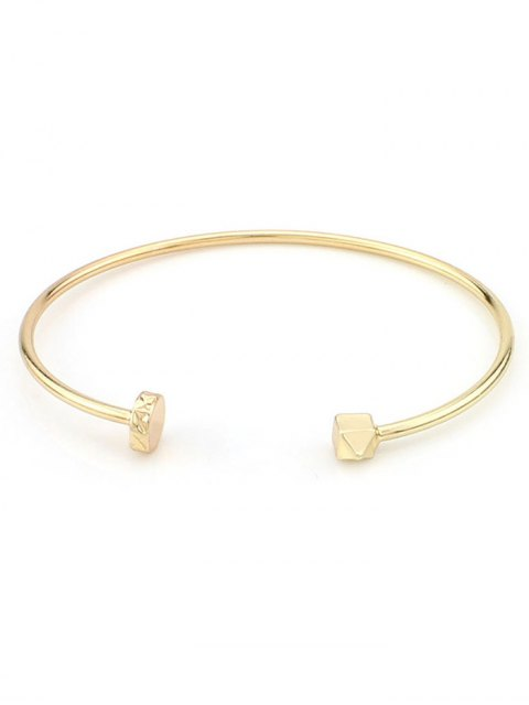 chic Triangle Alloy Cuff Bracelet - GOLDEN  Mobile
