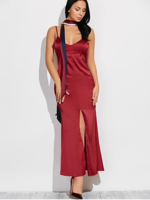 new Cami High Furcal Maxi Dress - WINE RED L Mobile