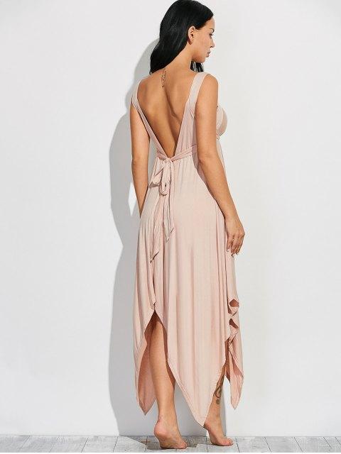 hot Wide Strap Hankerchief Dress - LIGHT KHAKI 2XL Mobile