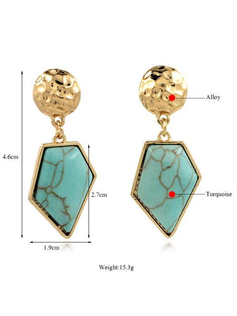 outfits Faux Turquoise Irregular Geometric Earrings - GREEN  Mobile