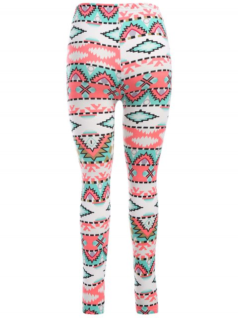 chic Printed Stretch Leggings - COLORMIX ONE SIZE Mobile