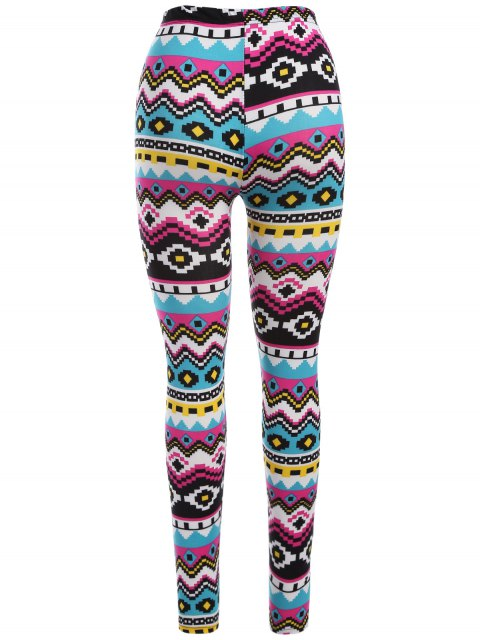 affordable Geometric Print Nordic Leggings - COLORMIX ONE SIZE Mobile