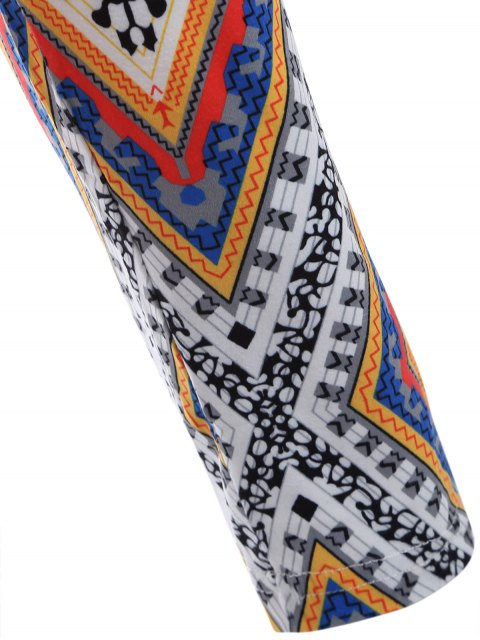 online Diamond Print Leggings - COLORMIX ONE SIZE Mobile
