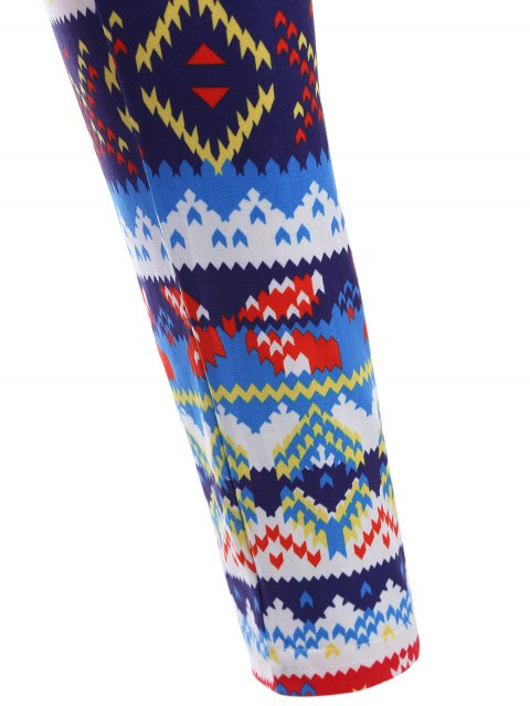 outfit Colorful Printed Winter Leggings - COLORMIX ONE SIZE Mobile