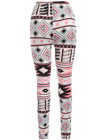Nordic Printed Leggings - PINK ONE SIZE Mobile
