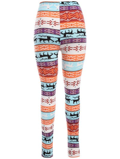 Printed Skinny Christmas Leggings - COLORMIX ONE SIZE Mobile