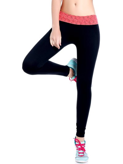 Stretchy Space Dyed Yoga Leggings - JACINTH M Mobile
