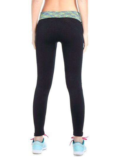 Stretchy Space Dyed Yoga Leggings - LIGHT GREEN M Mobile