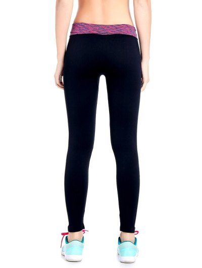 Stretchy Space Dyed Yoga Leggings - PURPLE L Mobile