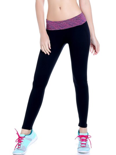 Stretchy Space Dyed Yoga Leggings - PURPLE M Mobile