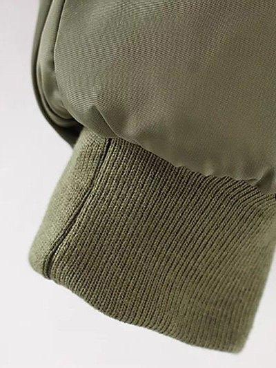 Rhinestoned Patched Jacket - PURPLISH BLUE M Mobile
