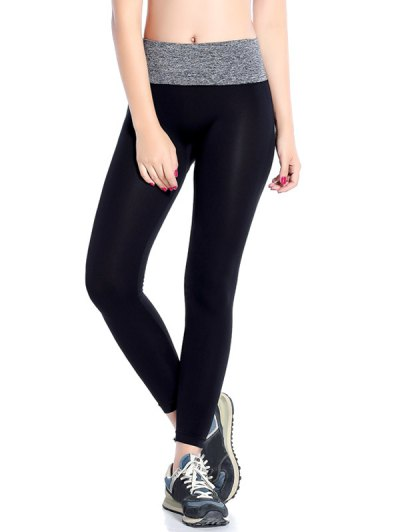Stretchy Yoga Leggings - GRAY S Mobile