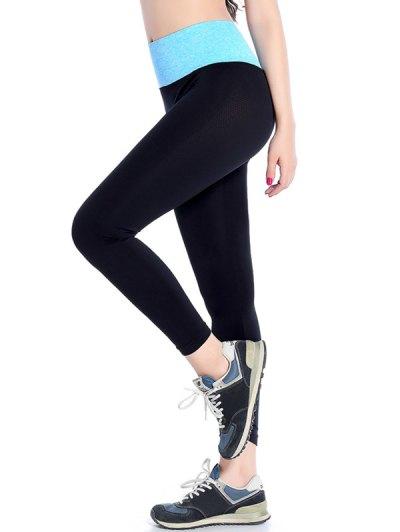 Stretchy Yoga Leggings - AZURE M Mobile