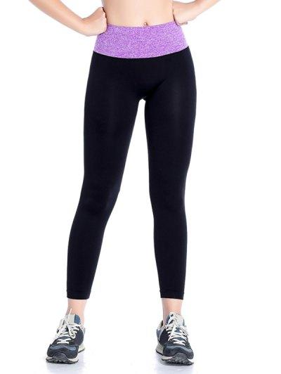 Stretchy Yoga Leggings - PURPLE M Mobile