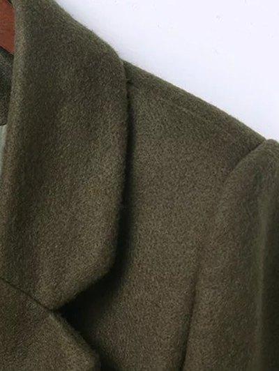 Wool Blend Masculine Coat - ARMY GREEN L Mobile
