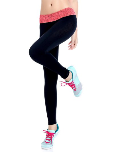 Stretchy Space Dyed Yoga Leggings - JACINTH L Mobile
