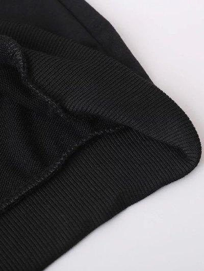 Striped Classic Hoodie - BLACK L Mobile
