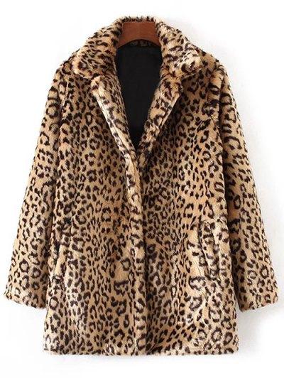 Leopard Faux Fur Coat - Leopard