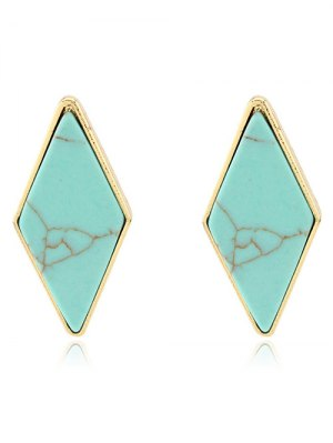 Artificial Turquoise Geometric Earrings
